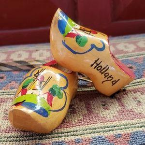 Vintage Holland Wood Clogs. Wood Shoes